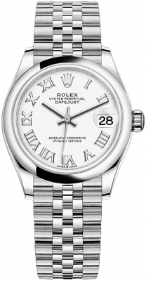 Rolex Datejust 31mm Stainless Steel 278240 White Roman Jubilee watch