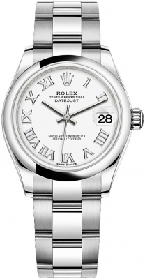 Rolex Datejust 31mm Stainless Steel 278240 White Roman Oyster watch