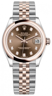 Rolex Datejust 31mm Stainless Steel and Rose Gold 278241 Chocolate Diamond Jubilee watch