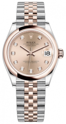 Rolex Datejust 31mm Stainless Steel and Rose Gold 278241 Gold Diamond Jubilee watch