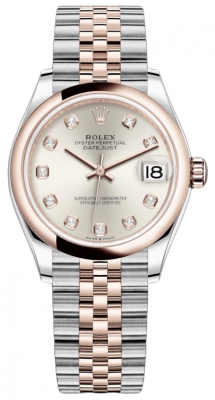 Rolex Datejust 31mm Stainless Steel and Rose Gold 278241 Silver Diamond Jubilee watch