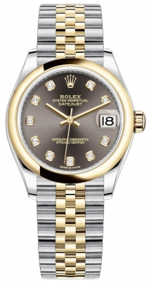Rolex Datejust 31mm Stainless Steel and Yellow Gold 278243 Grey Diamond Jubilee watch