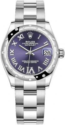 Rolex Datejust 31mm Stainless Steel 278344rbr Aubergine VI Oyster watch
