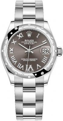 Rolex Datejust 31mm Stainless Steel 278344rbr Dark Grey VI Oyster watch