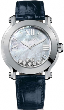 Chopard Happy Sport Round Quartz 36mm Ladies watch, model number - 278475-3002, discount price of £4,309.00 from The Watch Source