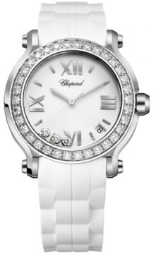 Chopard Happy Sport Round Quartz 36mm Ladies watch, model number - 278475-3018, discount price of £7,811.00 from The Watch Source