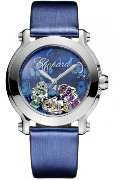 Buy this new Chopard Happy Sport Round Quartz 36mm 278475-3049 ladies watch for the discount price of £4,284.00. UK Retailer.