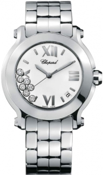 Chopard Happy Sport Round Quartz 36mm Ladies watch, model number - 278477-3001, discount price of £4,930.00 from The Watch Source