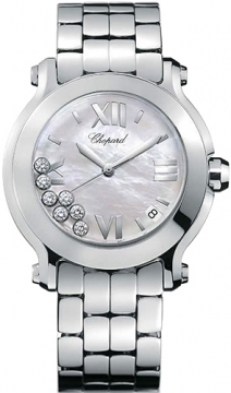 Chopard Happy Sport Round Quartz 36mm Ladies watch, model number - 278477-3002, discount price of £4,880.00 from The Watch Source