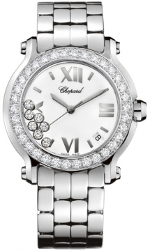 Chopard Happy Sport Round Quartz 36mm Ladies watch, model number - 278477-3008, discount price of £12,733.00 from The Watch Source