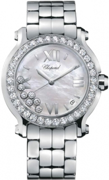 Chopard Happy Sport Round Quartz 36mm Ladies watch, model number - 278477-3009, discount price of £13,625.00 from The Watch Source