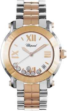 Chopard Happy Sport Round Quartz 36mm Ladies watch, model number - 278488-9001, discount price of £9,639.00 from The Watch Source