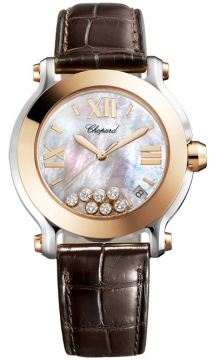 Chopard Happy Sport Round Quartz 36mm Ladies watch, model number - 278492-9004, discount price of £5,848.00 from The Watch Source