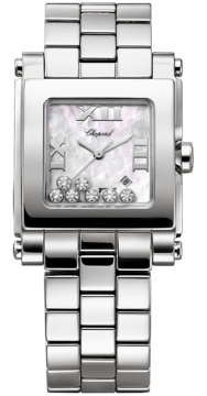 Chopard Happy Sport Square Quartz Medium Ladies watch, model number - 278496-3002, discount price of £5,846.00 from The Watch Source