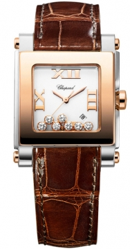 Chopard Happy Sport Square Quartz Medium Ladies watch, model number - 278497-9001, discount price of £6,281.00 from The Watch Source