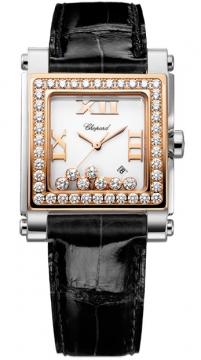 Chopard Happy Sport Square Quartz Medium Ladies watch, model number - 278497-9002, discount price of £12,665.00 from The Watch Source