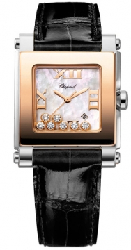 Chopard Happy Sport Square Quartz Medium Ladies watch, model number - 278497-9003, discount price of £6,502.00 from The Watch Source