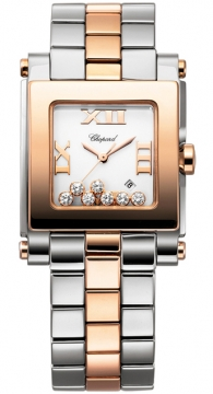 Chopard Happy Sport Square Quartz Medium Ladies watch, model number - 278498-9001, discount price of £8,542.00 from The Watch Source