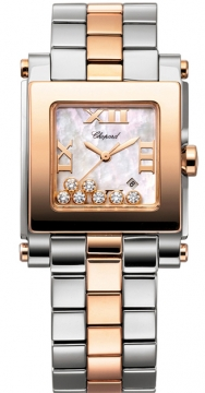 Chopard Happy Sport Square Quartz Medium Ladies watch, model number - 278498-9003, discount price of £8,772.00 from The Watch Source