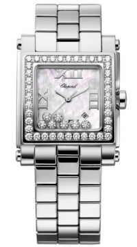 Chopard Happy Sport Square Quartz Medium Ladies watch, model number - 278505-2001, discount price of £10,825.00 from The Watch Source