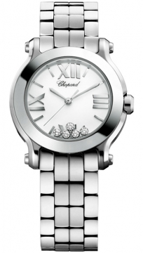 Chopard Happy Sport Round Quartz 30mm Ladies watch, model number - 278509-3002, discount price of £4,216.00 from The Watch Source