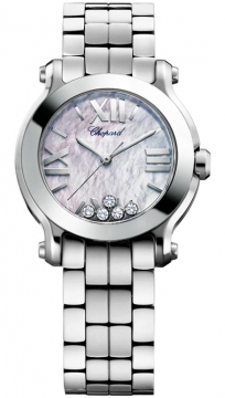 Chopard Happy Sport Round Quartz 30mm Ladies watch, model number - 278509-3006, discount price of £4,250.00 from The Watch Source