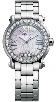 Chopard Happy Sport Round Quartz 30mm Ladies watch, model number - 278509-3010, discount price of £9,044.00 from The Watch Source