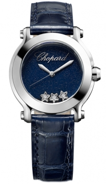 Chopard Happy Sport Round Quartz 30mm Ladies watch, model number - 278509-3049, discount price of £2,190.00 from The Watch Source