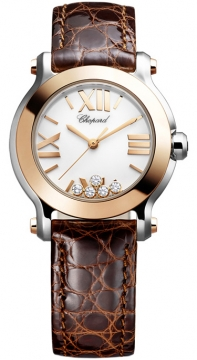 Chopard Happy Sport Round Quartz 30mm Ladies watch, model number - 278509-6001, discount price of £4,080.00 from The Watch Source