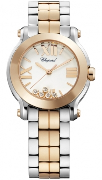 Chopard Happy Sport Round Quartz 30mm Ladies watch, model number - 278509-6003, discount price of £8,415.00 from The Watch Source