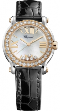 Chopard Happy Sport Round Quartz 30mm Ladies watch, model number - 278509-6006, discount price of £9,044.00 from The Watch Source