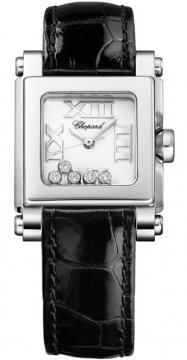 Chopard Happy Sport Square Quartz Small Ladies watch, model number - 278516-3001, discount price of £3,485.00 from The Watch Source