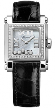 Chopard Happy Sport Square Quartz Small Ladies watch, model number - 278516-3003, discount price of £6,715.00 from The Watch Source