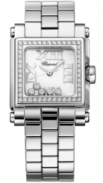 Chopard Happy Sport Square Quartz Small Ladies watch, model number - 278516-3004, discount price of £7,769.00 from The Watch Source