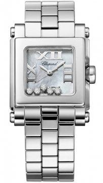 Chopard Happy Sport Square Quartz Small Ladies watch, model number - 278516-3006, discount price of £4,934.00 from The Watch Source