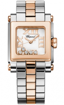 Chopard Happy Sport Square Quartz Small Ladies watch, model number - 278516-6002, discount price of £7,293.00 from The Watch Source