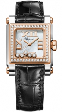 Chopard Happy Sport Square Quartz Small Ladies watch, model number - 278516-6003, discount price of £7,905.00 from The Watch Source