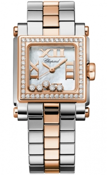 Chopard Happy Sport Square Quartz Small Ladies watch, model number - 278516-6004, discount price of £11,181.00 from The Watch Source