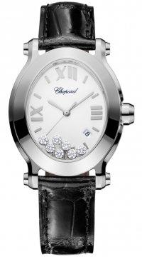 Buy this new Chopard Happy Sport Oval Quartz 278546-3001 ladies watch for the discount price of £5,024.00. UK Retailer.