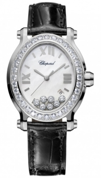 Chopard Happy Sport Oval Quartz Ladies watch, model number - 278546-3002, discount price of £9,630.00 from The Watch Source