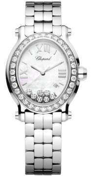Chopard Happy Sport Oval Quartz Ladies watch, model number - 278546-3004, discount price of £12,639.00 from The Watch Source