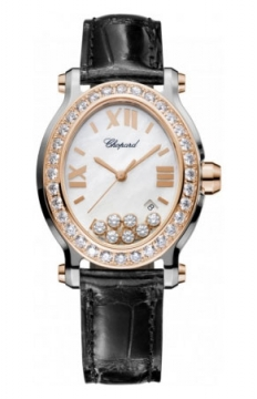 Chopard Happy Sport Oval Quartz Ladies watch, model number - 278546-6002, discount price of £12,563.00 from The Watch Source