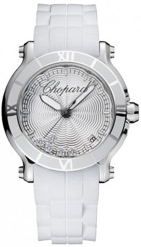 Buy this new Chopard Happy Sport Round Quartz 36mm 278551-3001 ladies watch for the discount price of £4,158.00. UK Retailer.