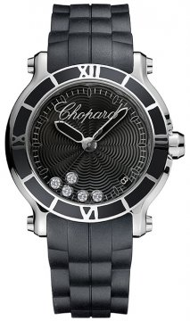 Chopard Happy Sport Round Quartz 36mm Ladies watch, model number - 278551-3002, discount price of £3,638.00 from The Watch Source
