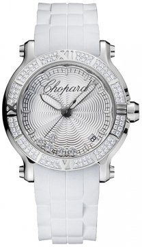 Buy this new Chopard Happy Sport Round Quartz 36mm 278551-3003 ladies watch for the discount price of £9,860.00. UK Retailer.