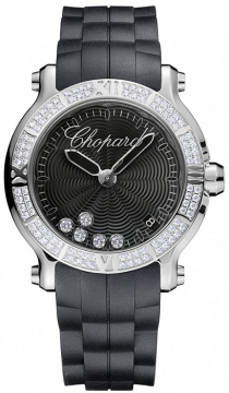 Chopard Happy Sport Round Quartz 36mm Ladies watch, model number - 278551-3004, discount price of £8,925.00 from The Watch Source
