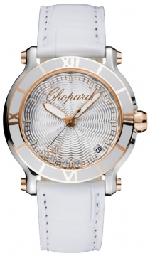 Chopard Happy Sport Round Quartz 36mm Ladies watch, model number - 278551-6002, discount price of £5,202.00 from The Watch Source