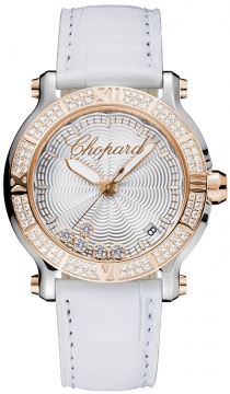 Chopard Happy Sport Round Quartz 36mm Ladies watch, model number - 278551-6003, discount price of £10,497.00 from The Watch Source