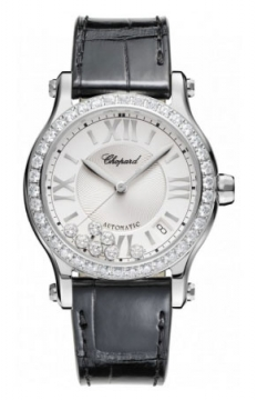 Chopard Happy Sport Medium Automatic 36mm Ladies watch, model number - 278559-3003, discount price of £11,271.00 from The Watch Source