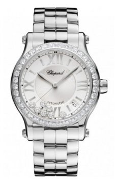Chopard Happy Sport Medium Automatic 36mm Ladies watch, model number - 278559-3004, discount price of £11,070.00 from The Watch Source